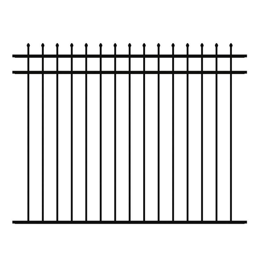 Ironcraft Orleans Deluxe Black Powder Coated Aluminum Decorative Fence Panel (Common: 6-ft x 4.6-ft; Actual: 6-ft x 4.6-ft)