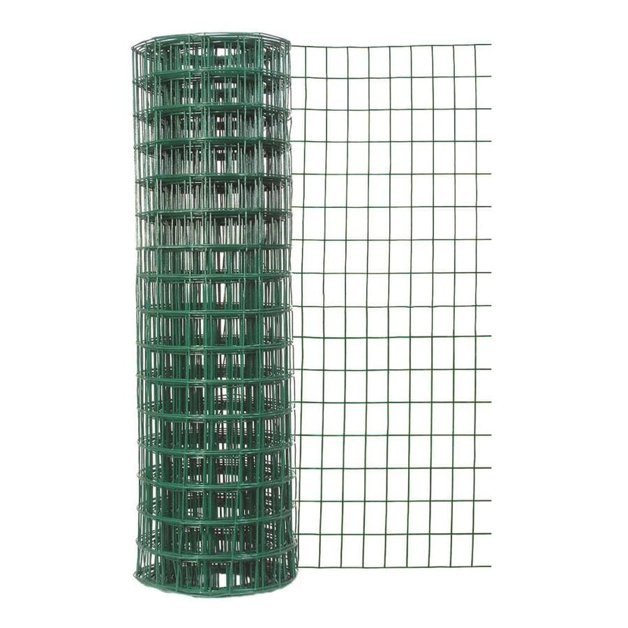 Blue Hawk Rolled Wire PVC Steel Welded Wire (Common: 50-ft x 4-ft; Actual: 50-ft x 4-ft)