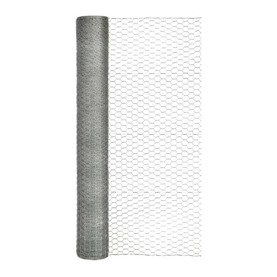 Blue Hawk Rolled Wire Galvanized Steel Poultry Netting (Common: 150-ft x 4-ft; Actual: 150-ft x 4-ft)