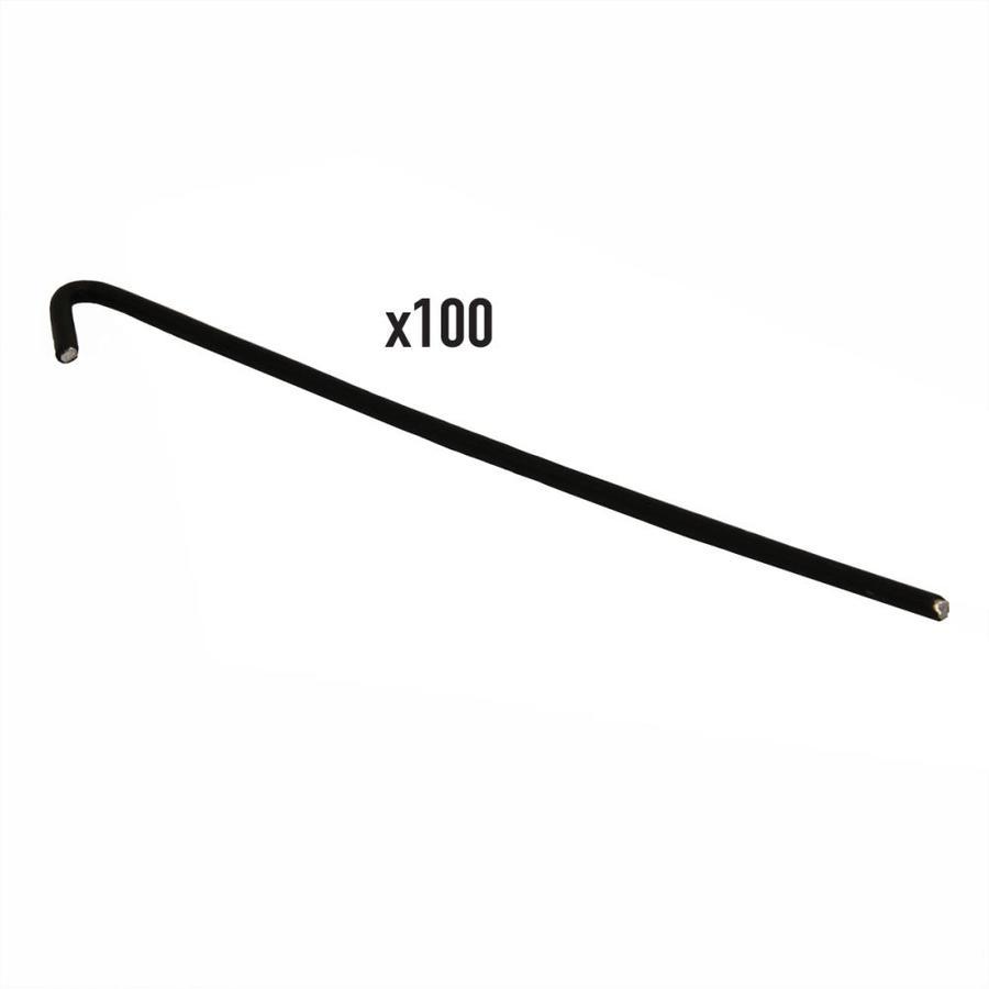 Blue Hawk 100-Pack Black Metal Aluminum Fence Ties