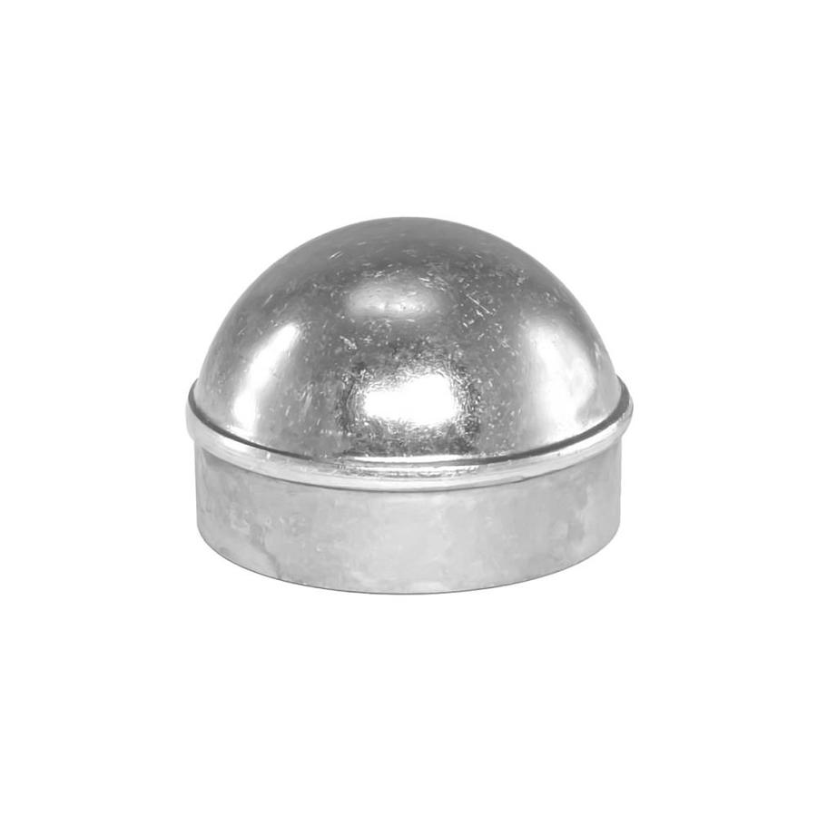 Blue Hawk Chain Link Accessory Polished Silver Aluminum Fence Dome Cap (Fits Common Post Measurement: 2-3/8-in; Actual: 2.7-in x 1.81-in)