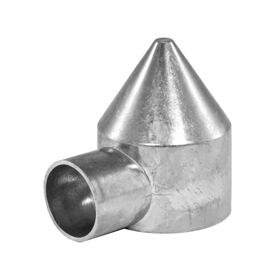 Blue Hawk Chain Link Accessory Polished Silver Aluminum Fence Bullet Cap (Fits Common Post Measurement: 2-3/8-in; Actual: 2.56-in x 3.74-in)
