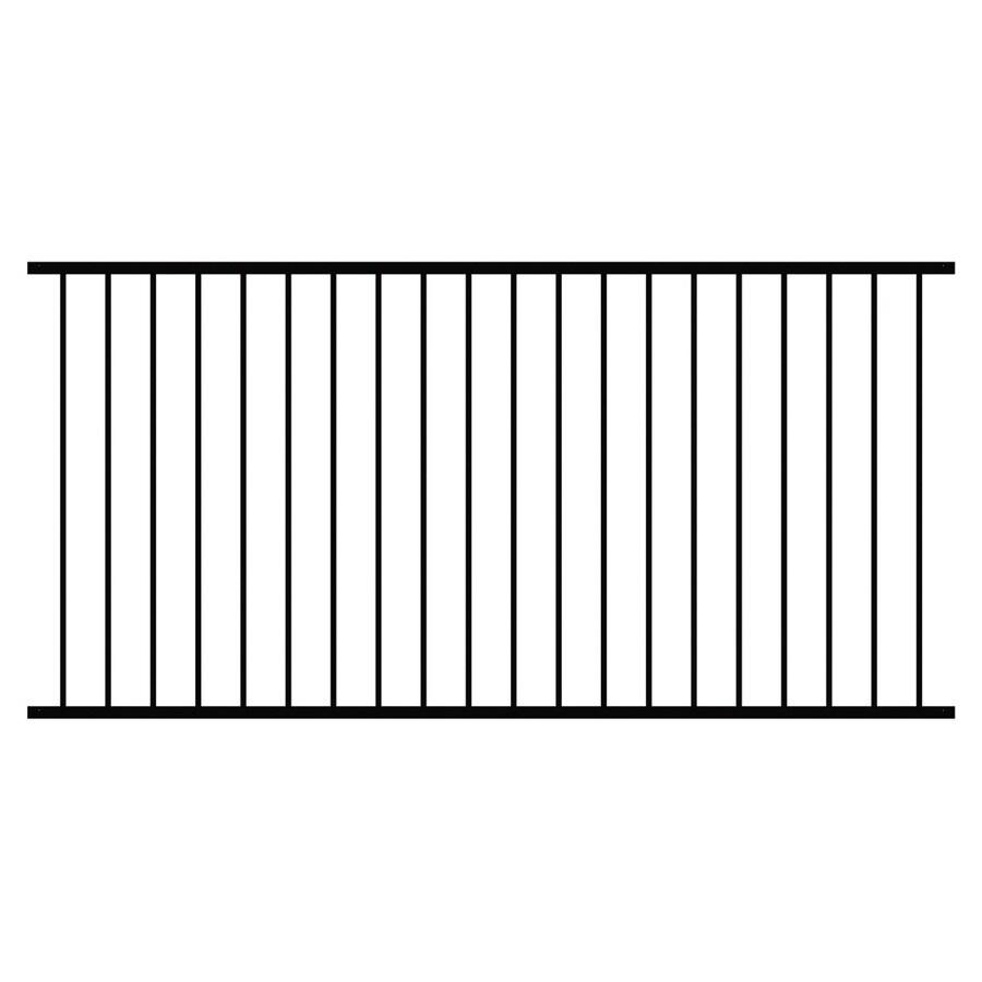 Shop ironcraft black powder coated steel decorative fence