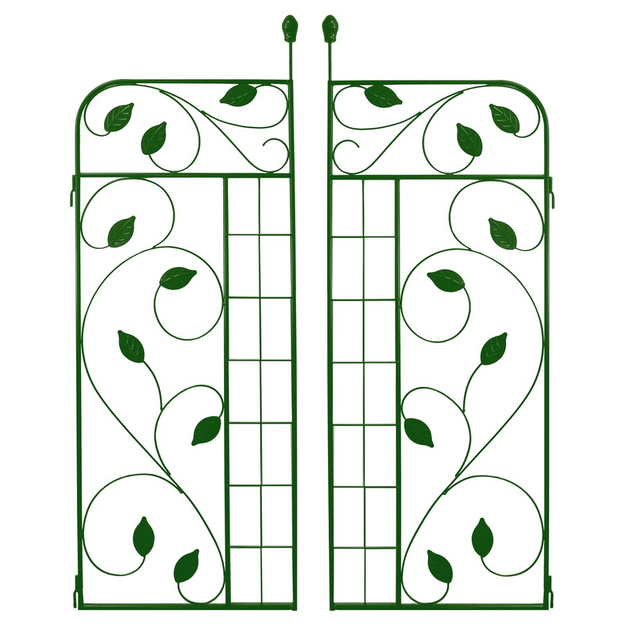 No Dig Green Powder-Coated Steel Decorative Fence Gate (Common: 1.63-ft x 4.3-ft; Actual: 1.63-ft x 4.3-ft)