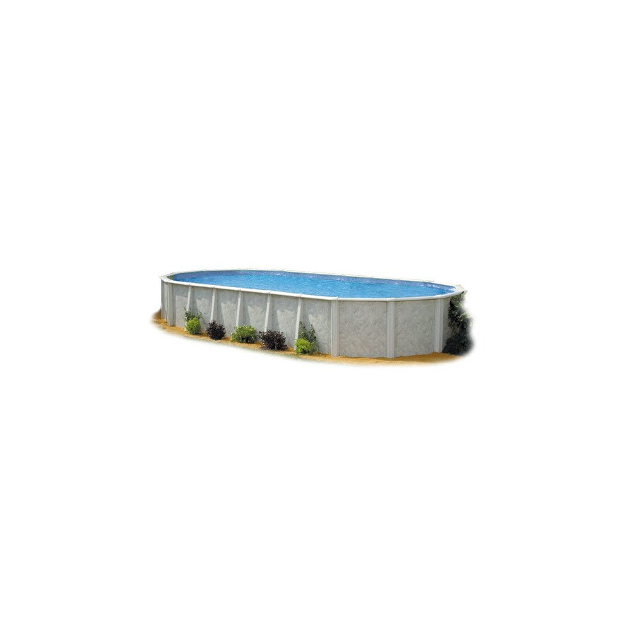 Embassy PoolCo Lakeshore 15-ft x 31-ft x 52-in Oval Above-Ground Pool