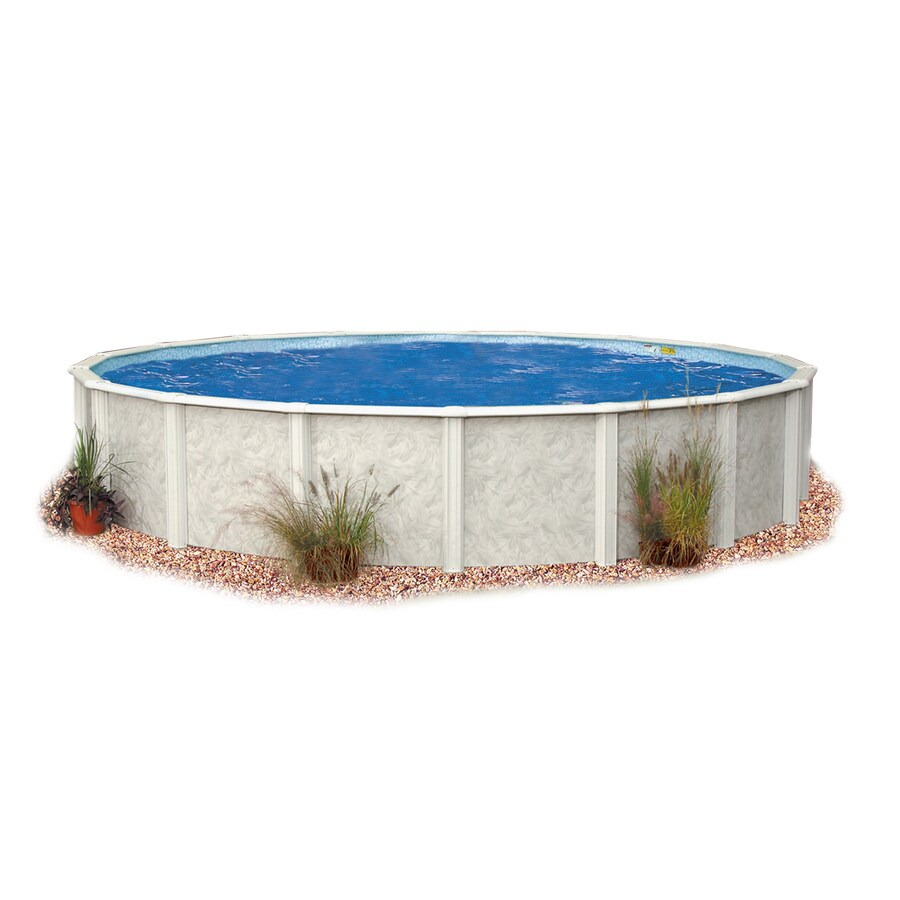Embassy PoolCo Meadow Breeze 24-ft x 24-ft x 52-in Round Above-Ground Pool