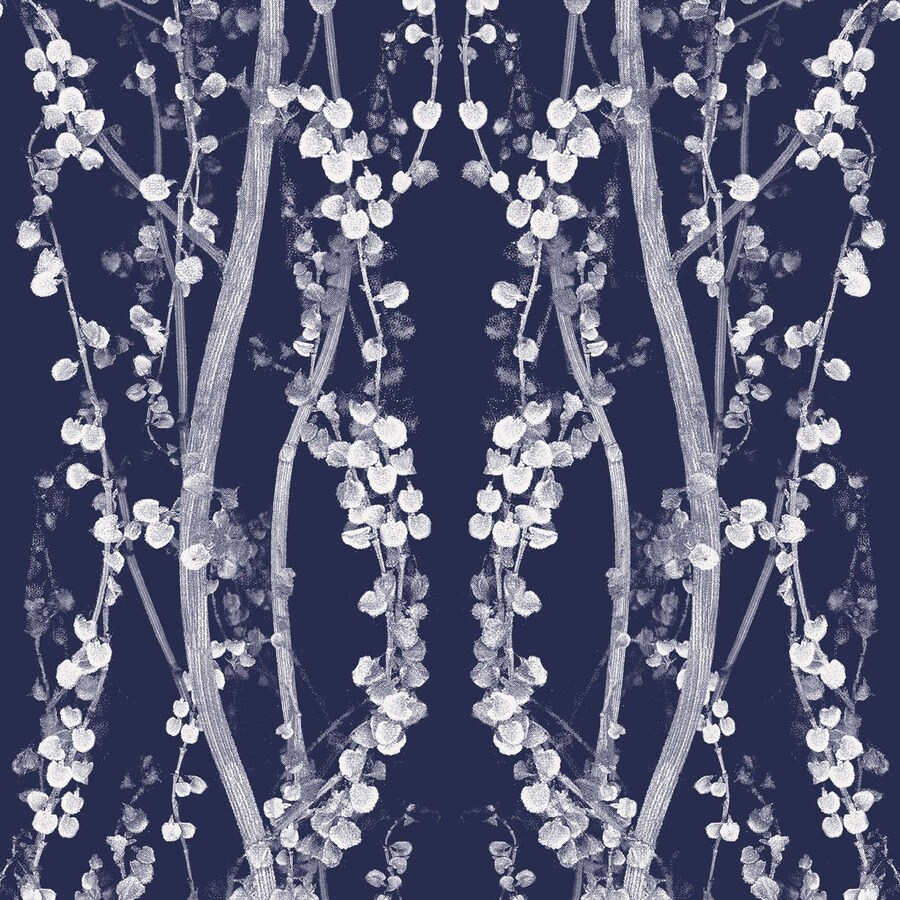 Tempaper Mystery Blue Peelable Vinyl Self-Adhesive Classic Wallpaper