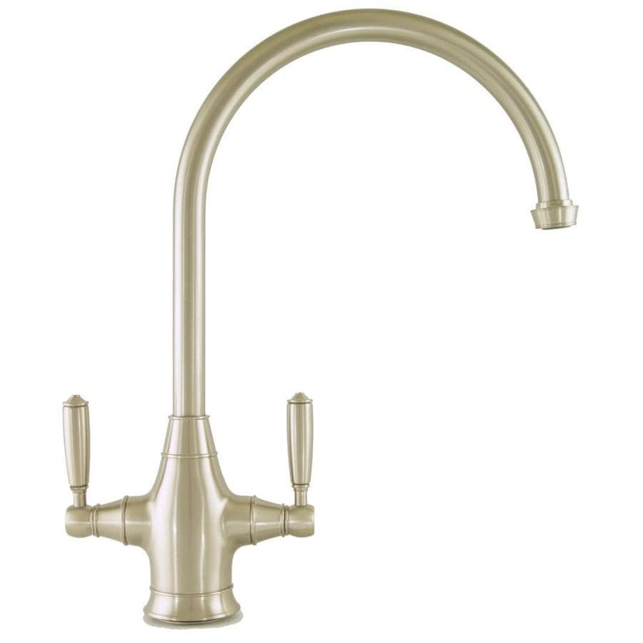 Mico Designs Chester Satin Nickel 2-Handle High-Arc Kitchen Faucet