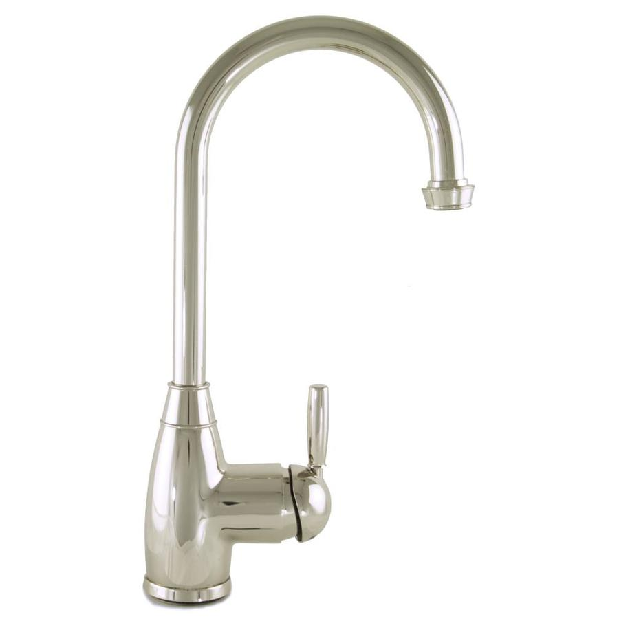 Mico Designs Churchill Polished Nickel 1-Handle Bar and Prep Faucet