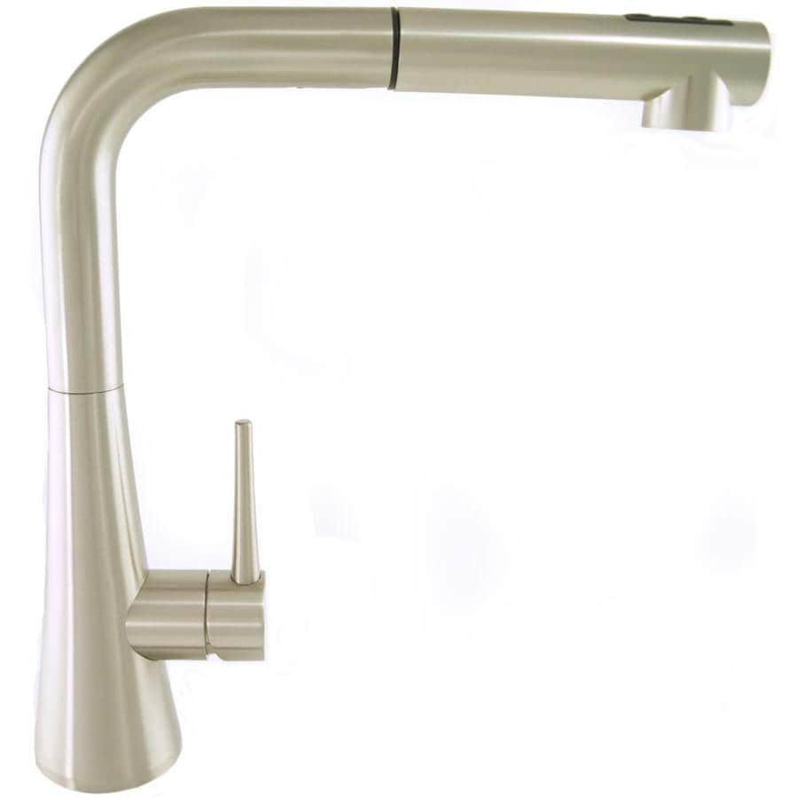 Mico Designs Churchill Satin Nickel 1-Handle Pull-Out Kitchen Faucet