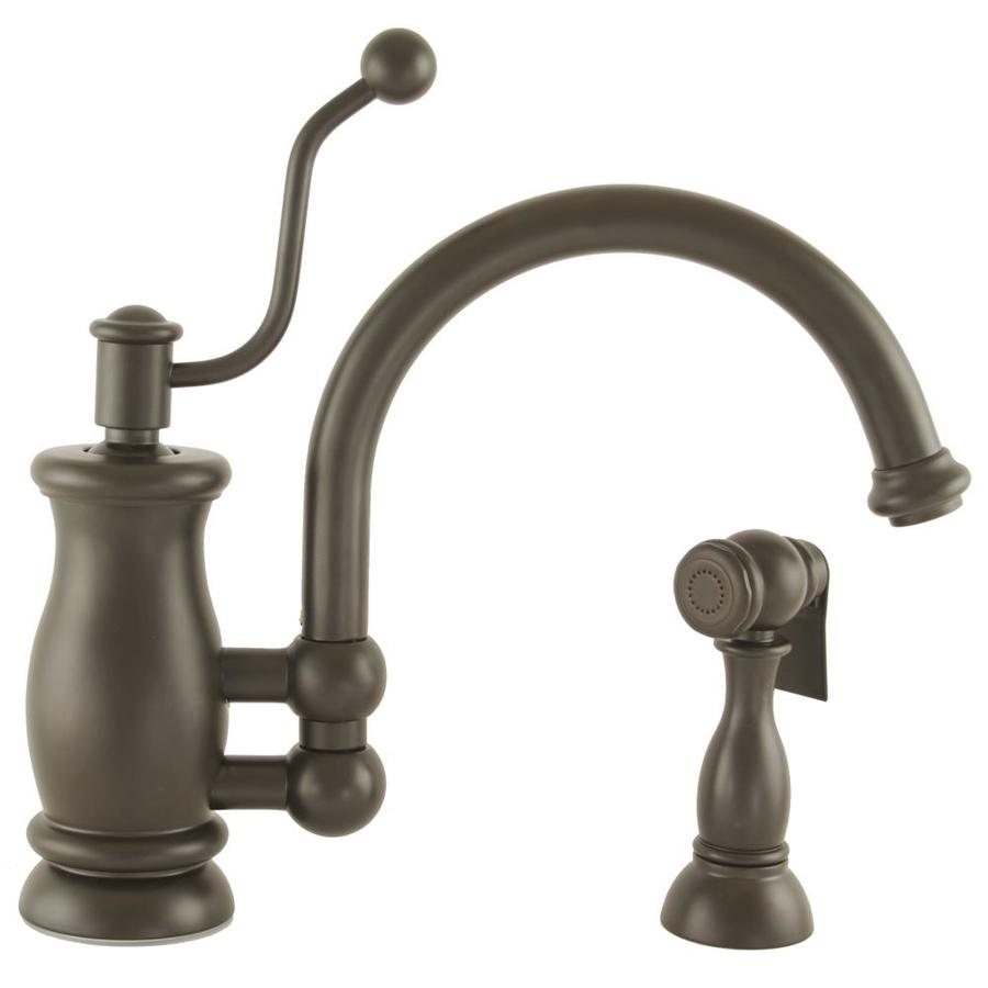 Mico Designs Seashore Oil-Rubbed Bronze 1-Handle High-Arc Kitchen Faucet with Side Spray