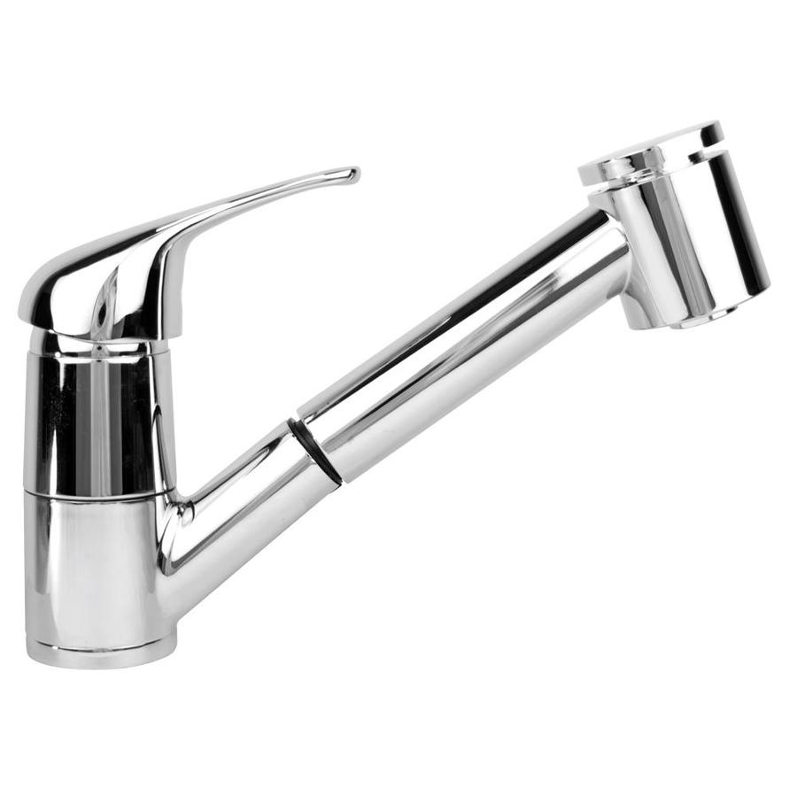 Mico Designs Europa Chrome Plated 1-Handle Pull-Out Kitchen Faucet