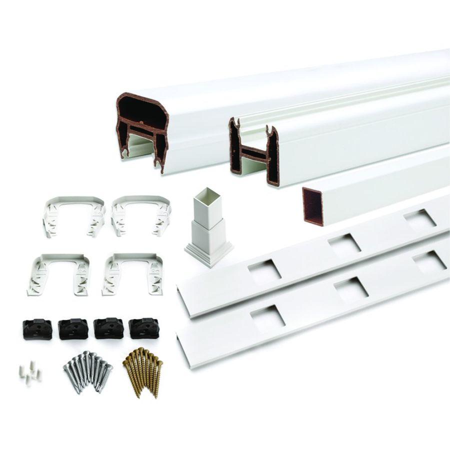 Trex Transcend 24-Pack Classic White Composite Deck Railing Kit (Assembled: 7.625-ft x 3-ft)