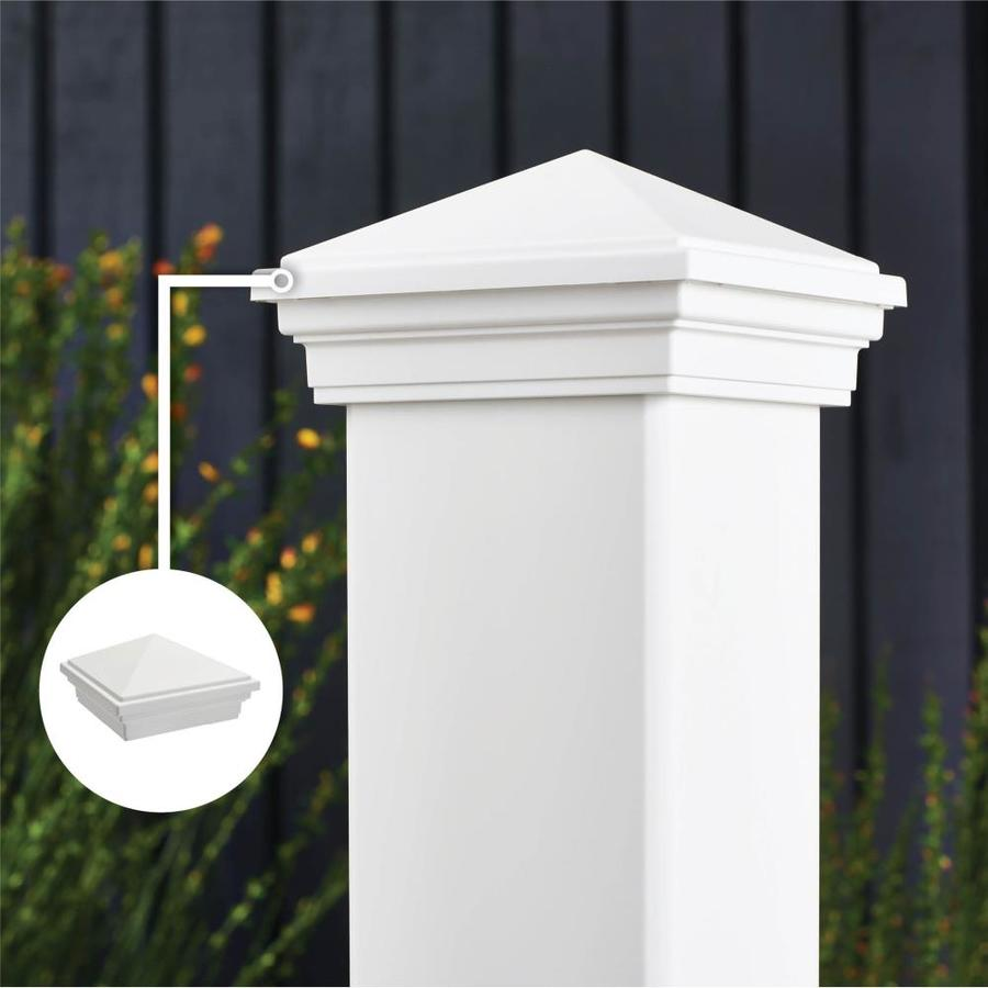 Trex Transcend Classic White Composite Deck Post Cap (Fits Common Post Measurement: 4-in x 4-in; Actual: 3.125-in x 4.5-in x 4.5-in)