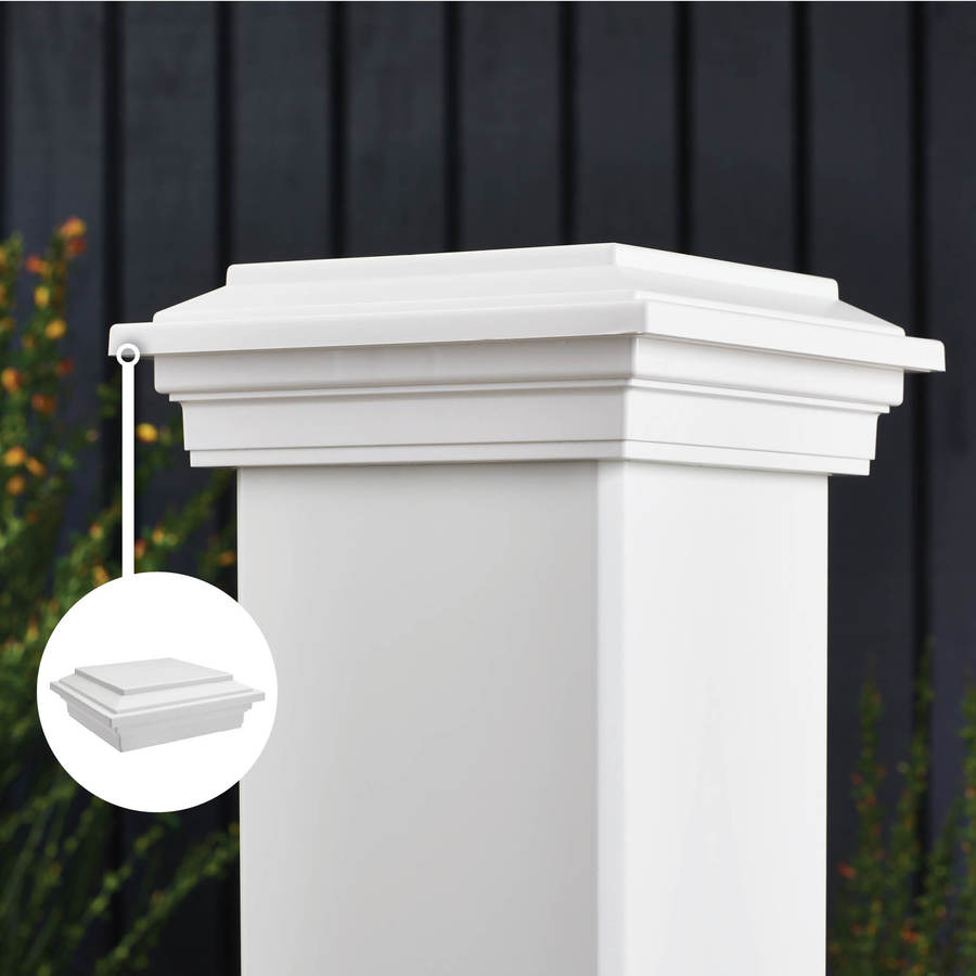 Trex Transcend Classic White Composite Deck Post Cap (Fits Common Post Measurement: 6-in x 6-in; Actual: 3.125-in x 5.5-in x 5.5-in)