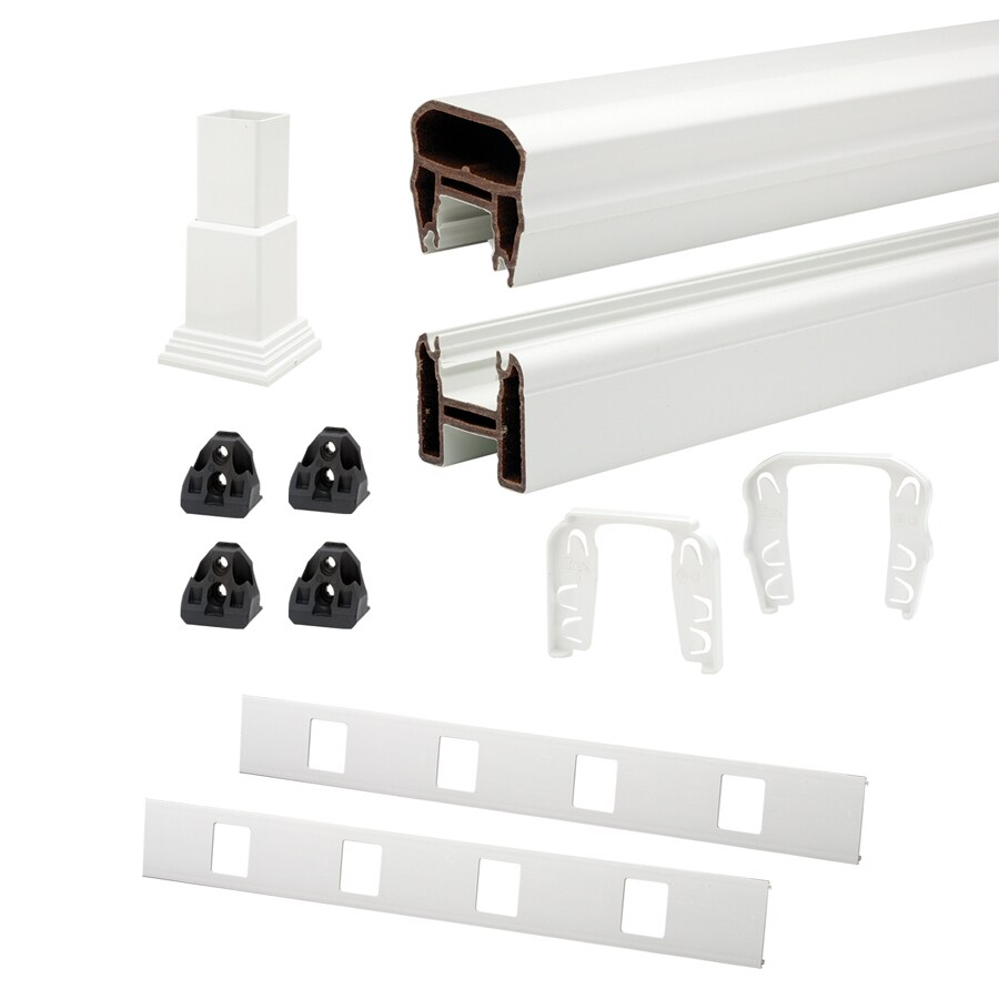 Trex 72-in White Composite Deck Railing Kit