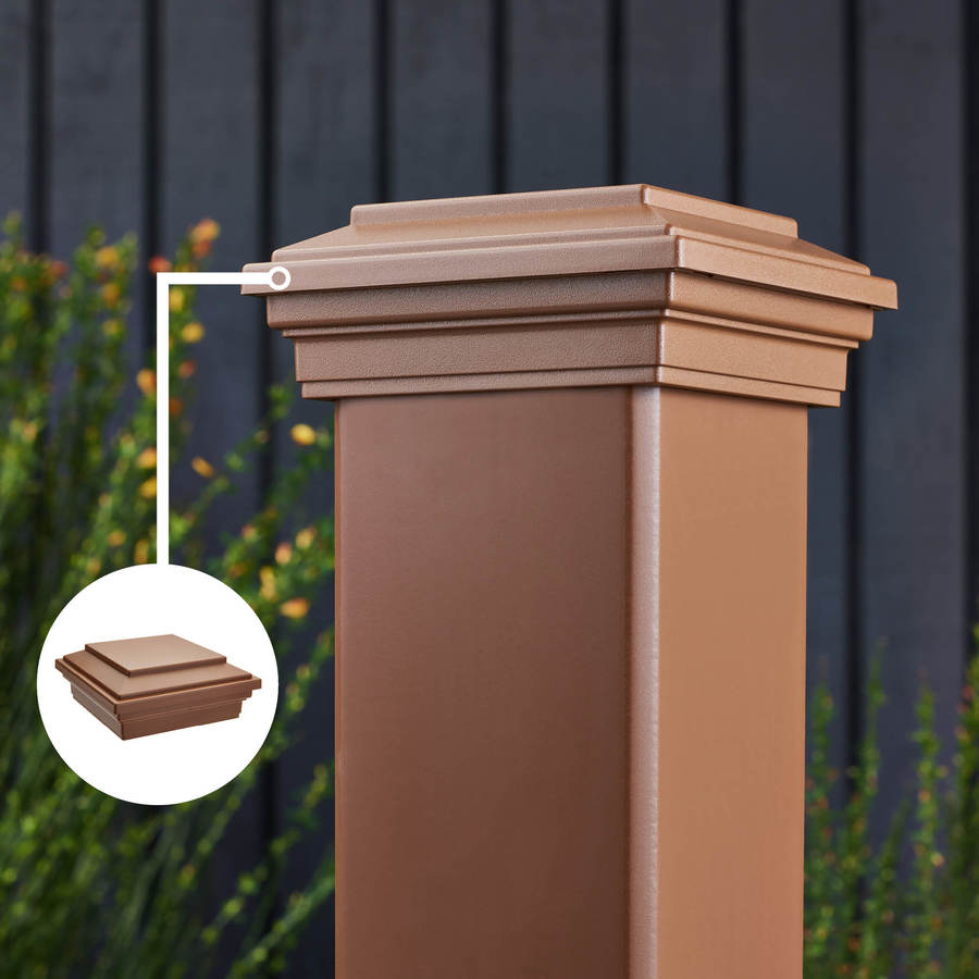 Trex Transcend Tree House Composite Deck Post Cap (Fits Common Post Measurement: 4-in x 4-in; Actual: 2.35-in x 4.5-in x 4.5-in)