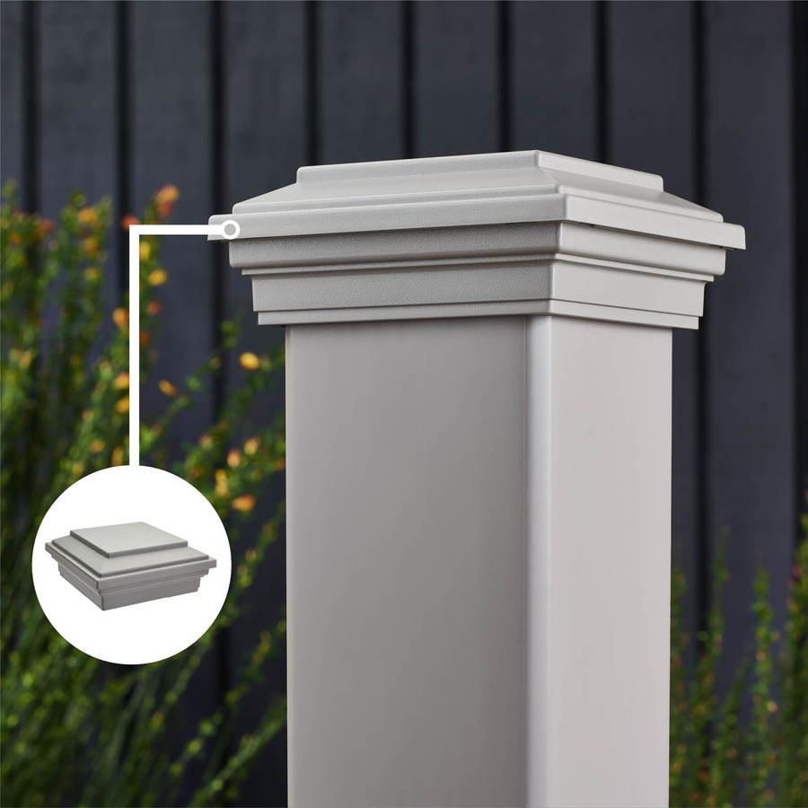 Trex Transcend Gravel Path Composite Deck Post Cap (Fits Common Post Measurement: 4-in x 4-in; Actual: 2.35-in x 4.5-in x 4.5-in)