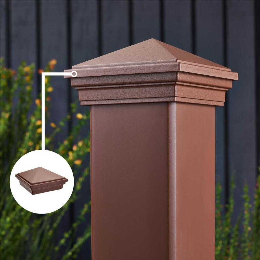 Trex Transcend Fire Pit Composite Deck Post Cap (Fits Common Post Measurement: 4-in x 4-in; Actual: 3.125-in x 4.5-in x 4.5-in)