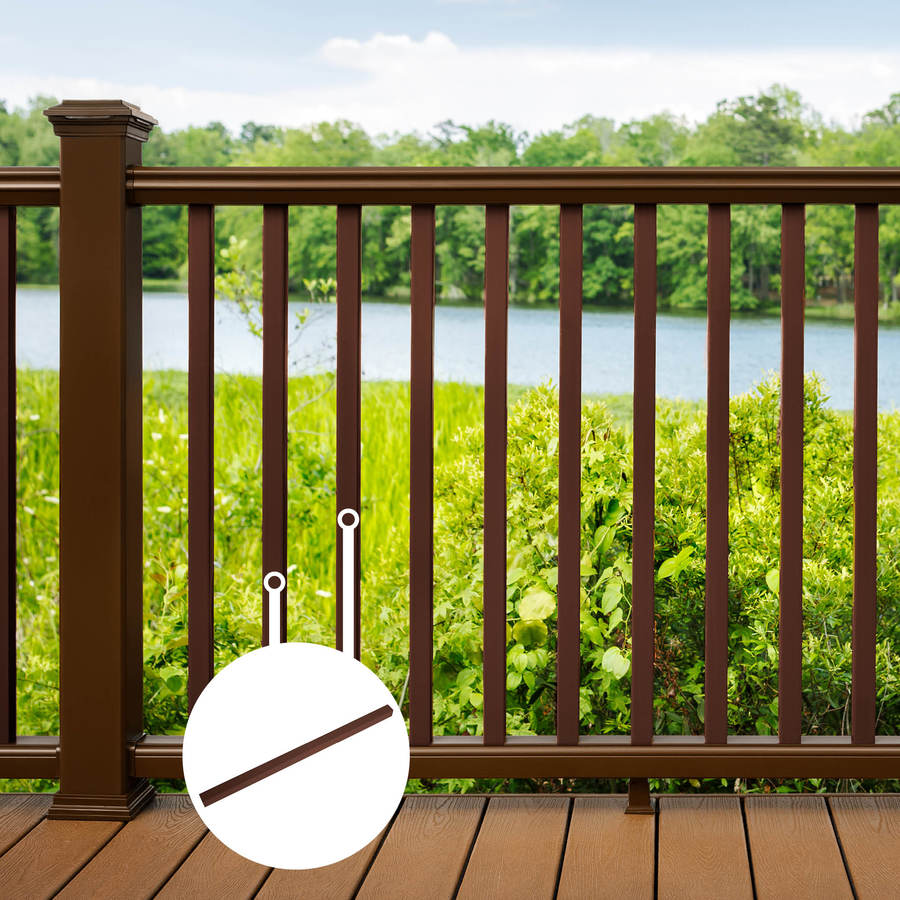 Trex Transcend Vintage Lantern Composite Deck Baluster (Common: 2-in x 2-in x 36-in; Actual: 1.418-in x 1.418-in x 37-in)