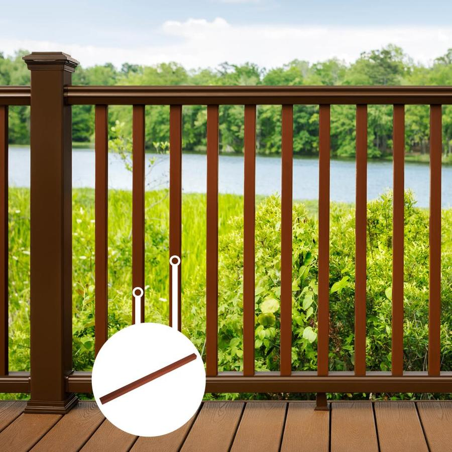 Trex Transcend Fire Pit Composite Deck Baluster (Common: 2-in x 2-in x 36-in; Actual: 1.418-in x 1.418-in x 37-in)