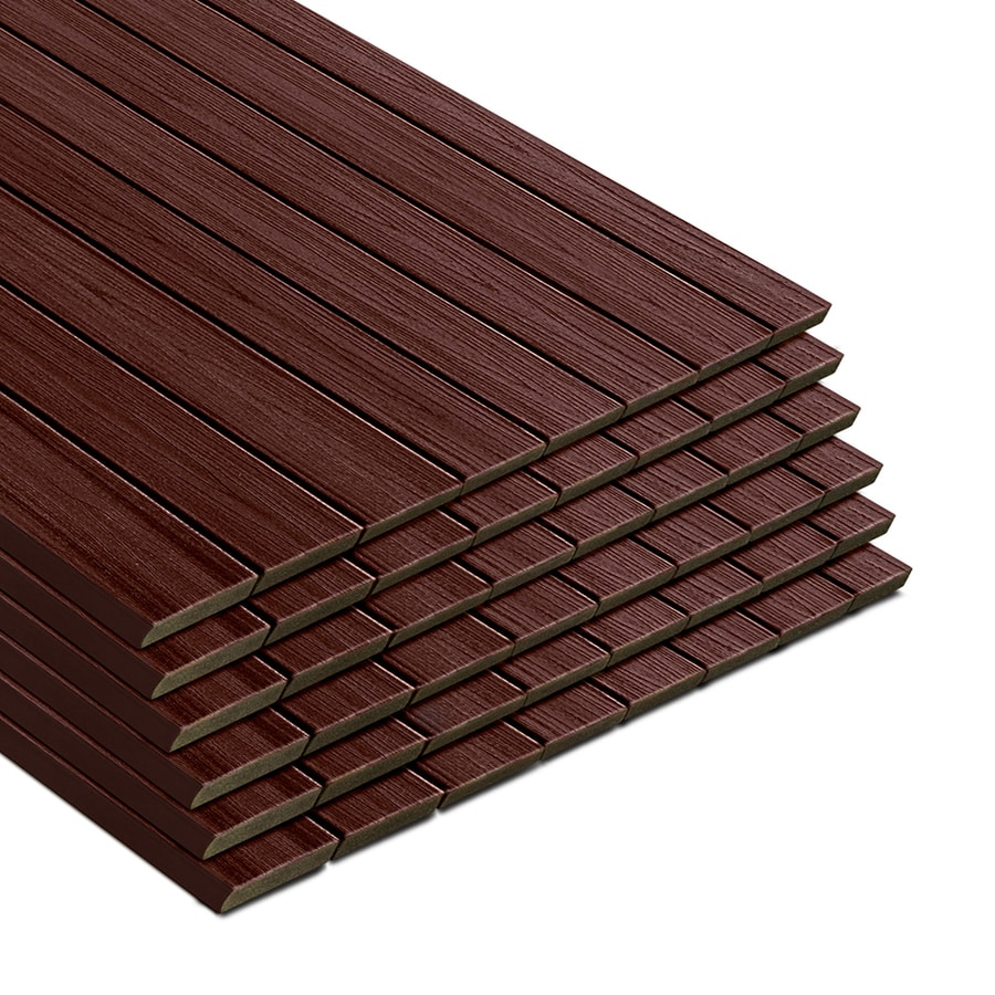 Shop trex transcend lava rock composite deck board actual for Composite decking boards