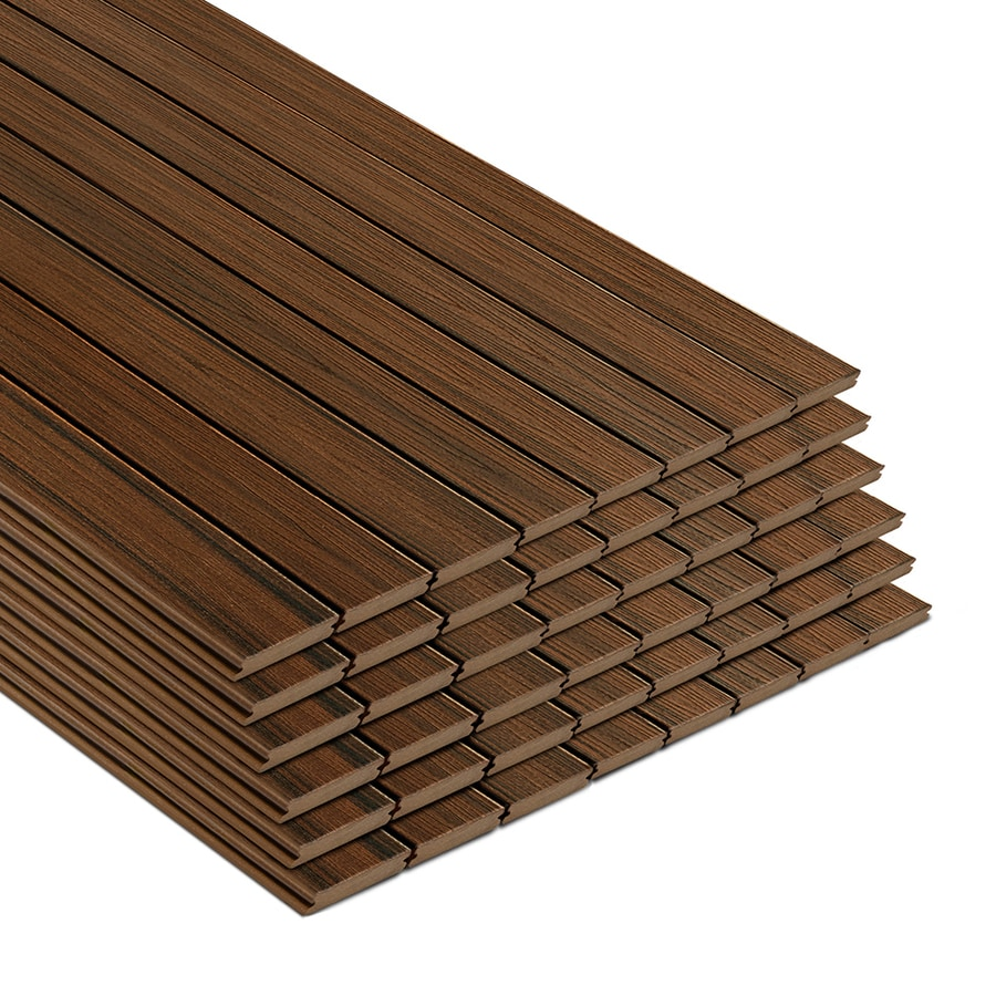 Trex 48-Pack Transcend Spiced Rum Ultra-Low Maintenance (Ulm) Composite Decking (Common: 1-In x 6-in x 20-ft; Actual: 1-In x 5.5-In x 240-In)