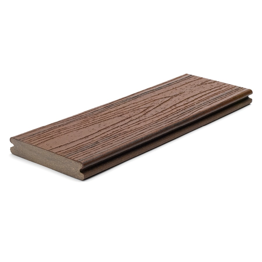Trex Transcend Lava Rock Groove Composite Deck Board (Actual: 0.94-in x 5.5-in x 20-ft)