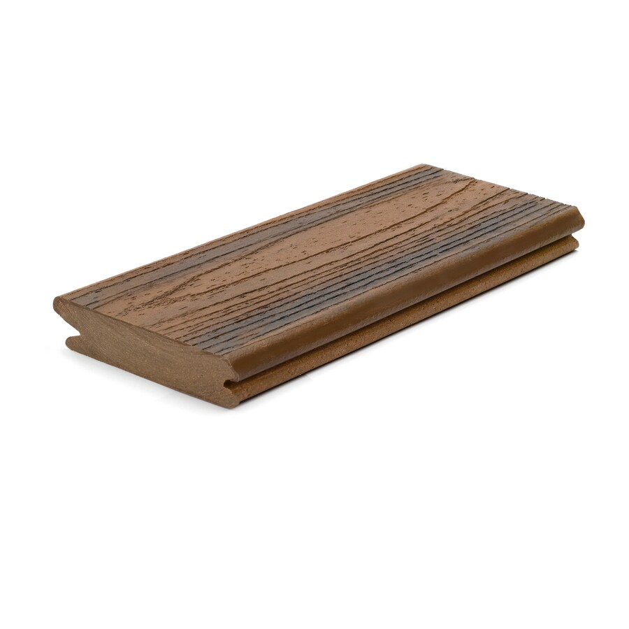 Trex Porch Spiced Rum Composite Deck Board (Actual: 0.94-in x 4.25-in x 16-ft)