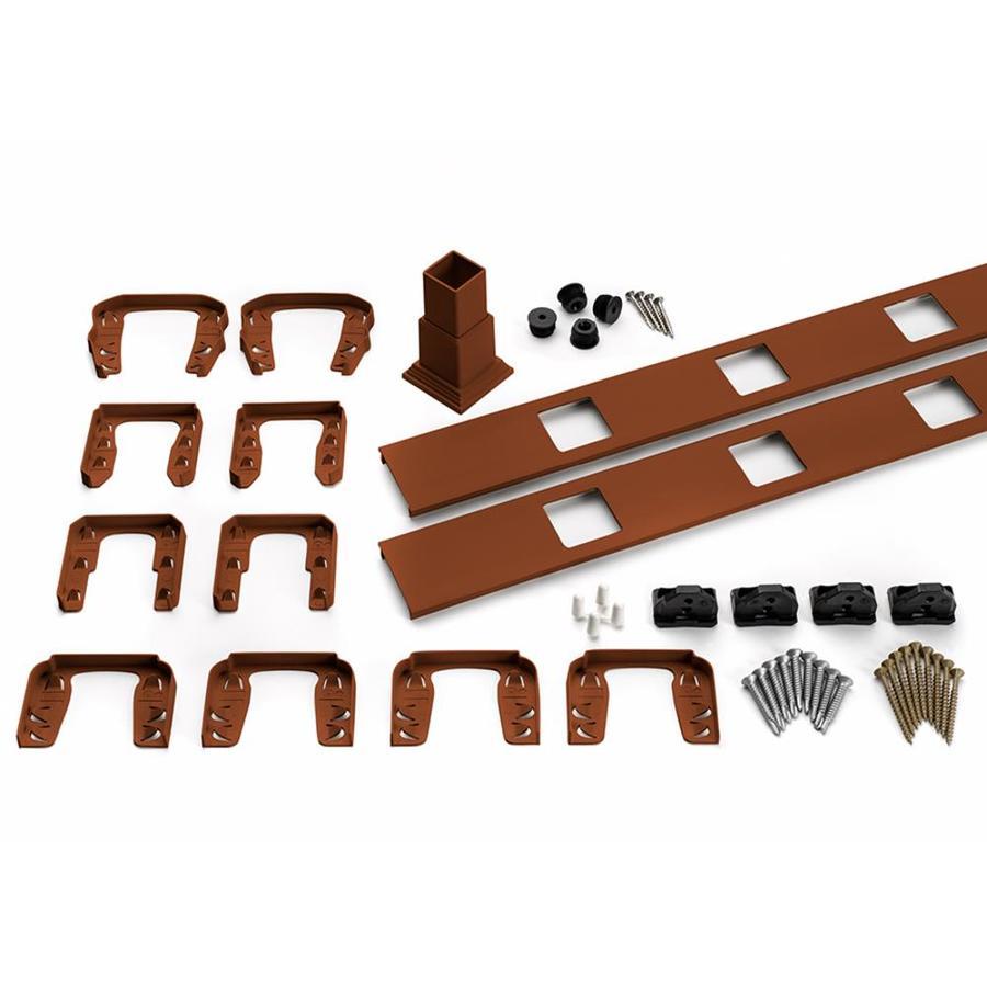 Trex Transcend 4-Pack Fire Pit Composite Deck Railing Kit (Assembled: 7.625-ft x 3-ft)