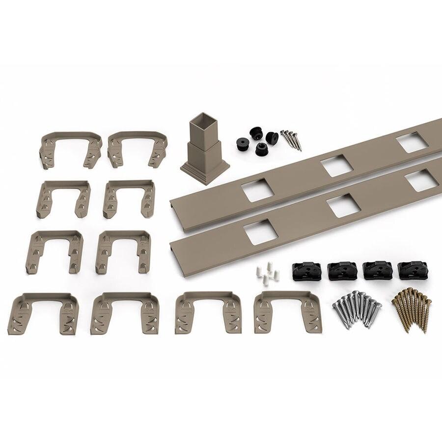Trex Transcend 4-Pack Gravel Path Composite Deck Railing Kit (Assembled: 5.625-ft x 3-ft)