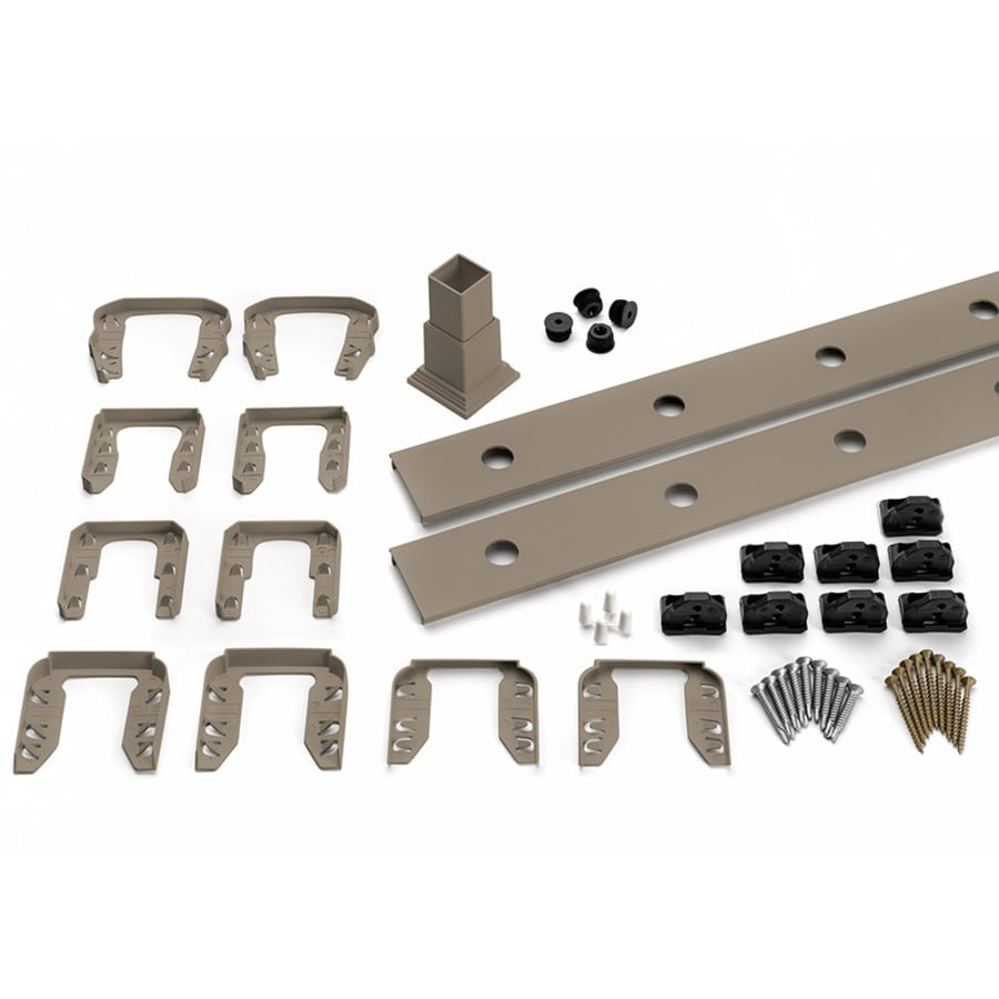 Trex Transcend 4-Pack Gravel Path Composite Deck Railing Kit (Assembled: 7.625-ft x 3-ft)