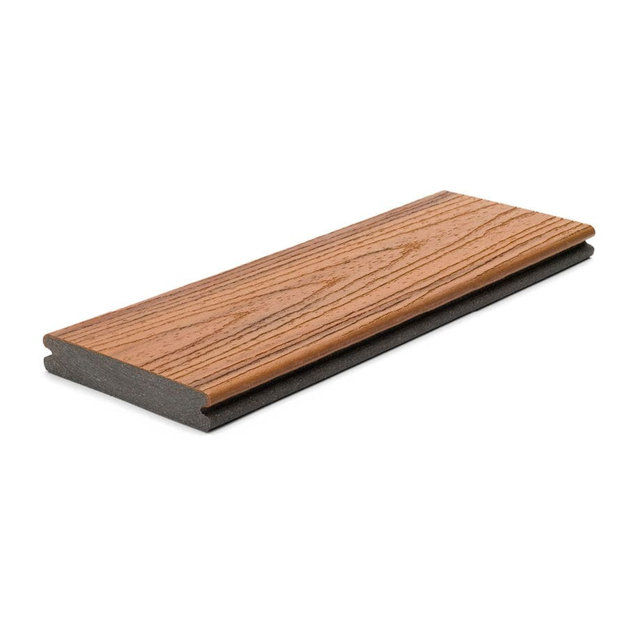 Trex Transcend Tiki Torch Groove Composite Deck Board (Actual: 0.94-in x 5.5-in x 16-ft)