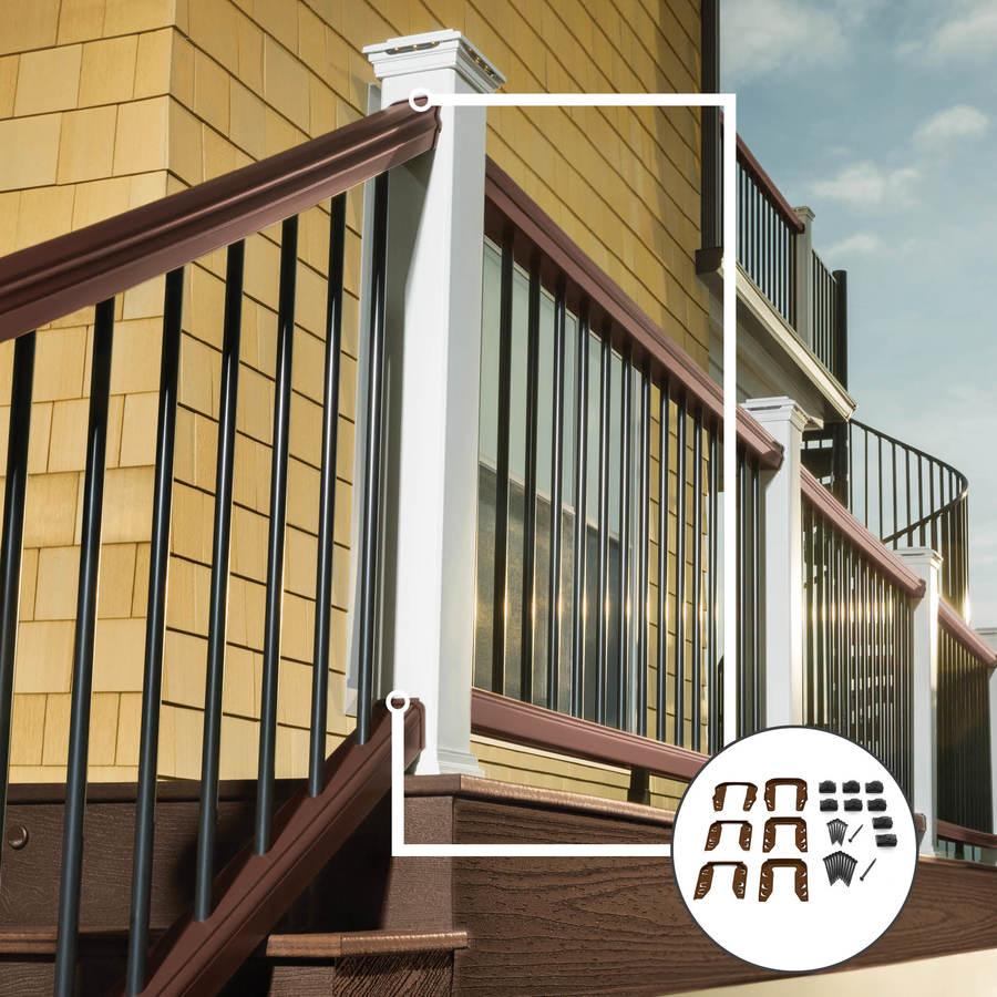 Trex Transcend Vintage Lantern PVC Stair Connector