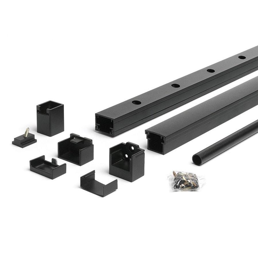 Trex Reveal Railing 4.25-in x 3.25-in Charcoal Black Aluminum Porch Railing