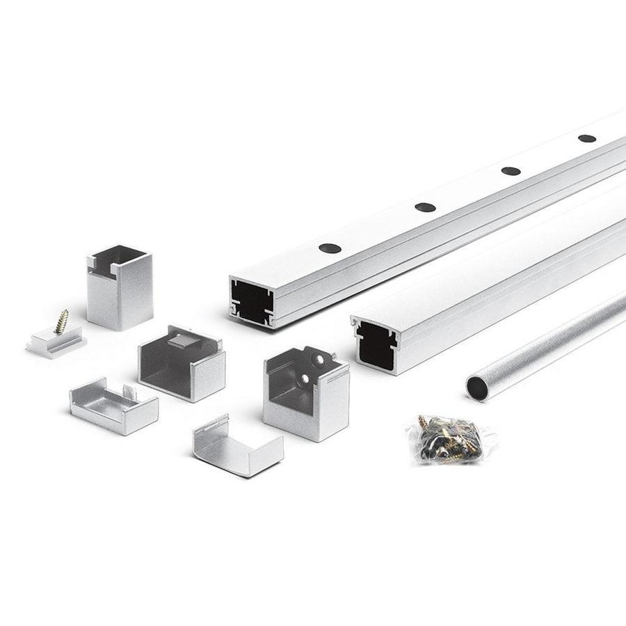 Trex Reveal Railing 4.25-in x 3.25-in Classic White Aluminum Porch Railing