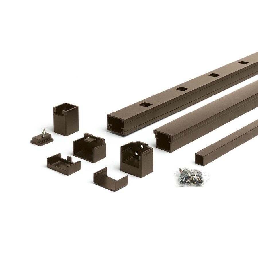 Trex Reveal Railing 4.25-in x 3.25-in Bronze Aluminum Porch Railing