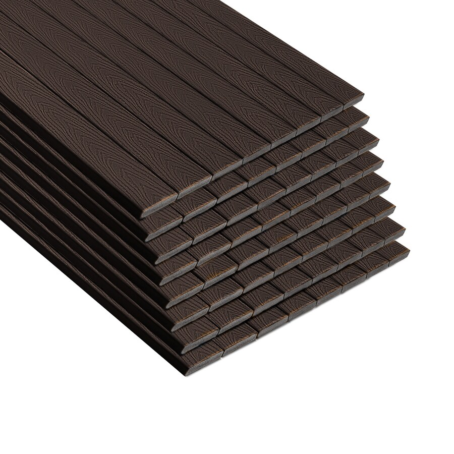Trex Select Woodland Brown Composite Deck Board (Actual: 0.82-in x 5.5-in x 12-ft)
