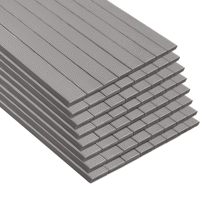 Trex Select Pebble Grey Composite Deck Board (Actual: 0.82-in x 5.5-in x 12-ft)
