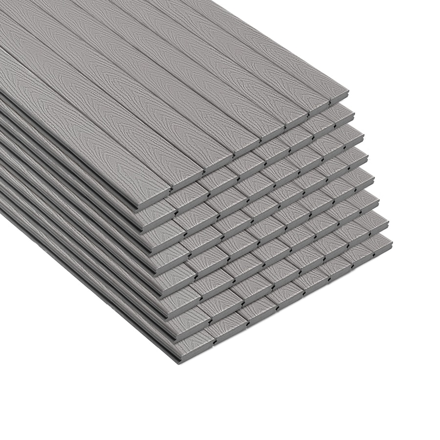 Trex Select Pebble Grey Groove Composite Deck Board (Actual: 0.875-in x 5.5-in x 16-ft)