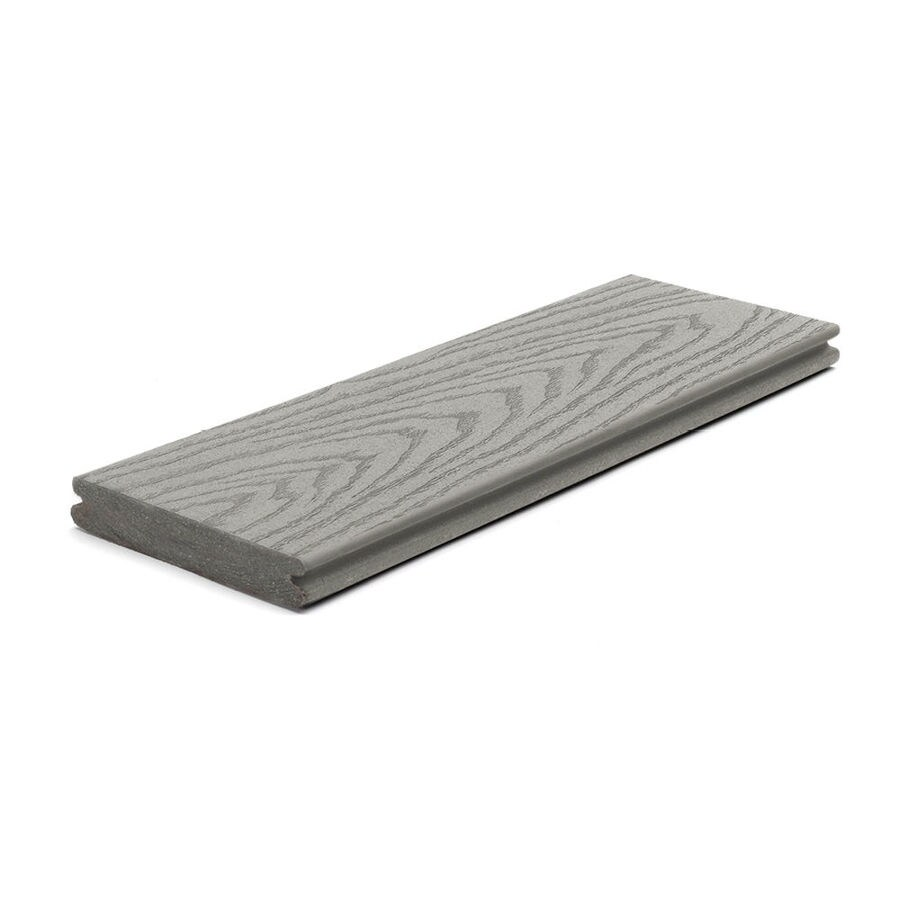 Trex Select Pebble Grey Groove Composite Deck Board (Actual: 0.82-in x 5.5-in x 12-ft)