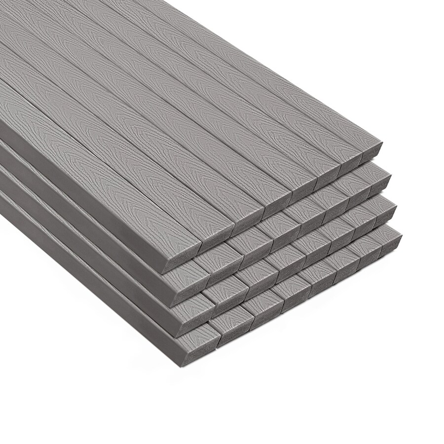 Trex Select Pebble Grey Composite Deck Board (Actual: 1.3-in x 5.5-in x 12-ft)