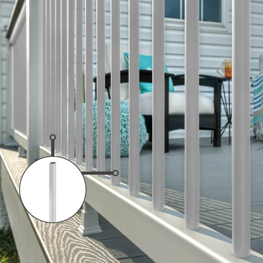 Trex Transcend Classic White Composite Deck Baluster (Common: 2-in x 2-in x 36-in; Actual: 1.418-in x 1.418-in x 37-in)