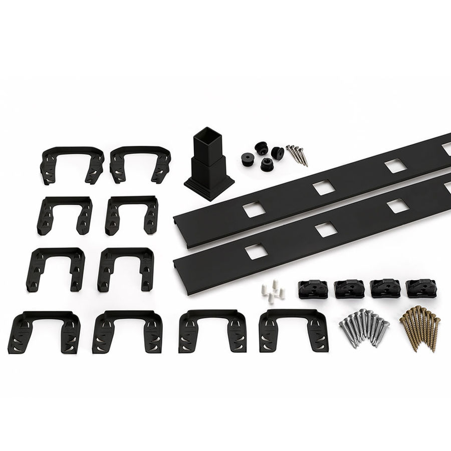 Trex Transcend 4-Pack Charcoal Black Composite Deck Railing Kit (Assembled: 5.625-ft x 3-ft)