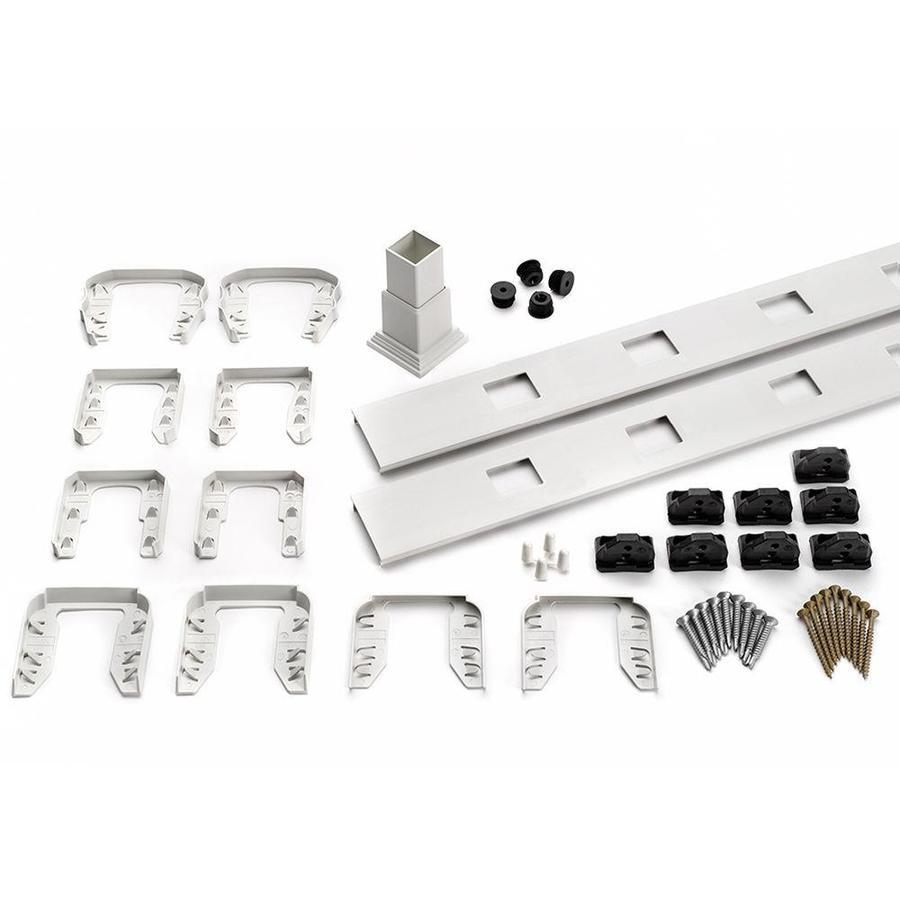 Trex Transcend 4-Pack Classic White Composite Deck Railing Kit (Assembled: 7.625-ft x 3-ft)