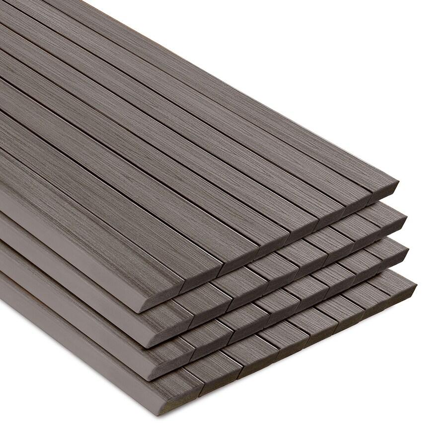 Trex Transcend Island Mist Composite Deck Board (Actual: 1.3-in x 5.5-in x 12-ft)