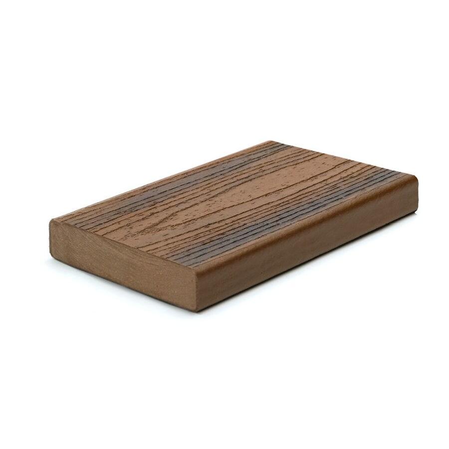 Trex Transcend Spiced Rum Composite Deck Board (Actual: 1.3-in x 5.5-in x 20-ft)