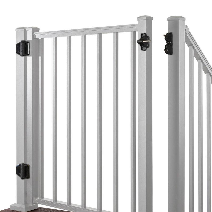 Trex Gates Classic White Aluminum Decorative Fence Gate (Common: 4-ft x 3-ft; Actual: 3.87-ft x 2.96-ft)