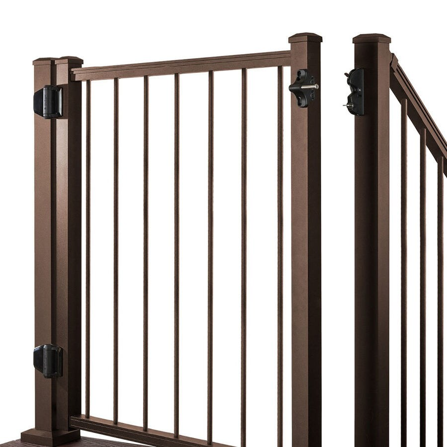 Trex Gates Bronze Aluminum Decorative Fence Gate (Common: 4-ft x 3-ft; Actual: 3.87-ft x 2.96-ft)