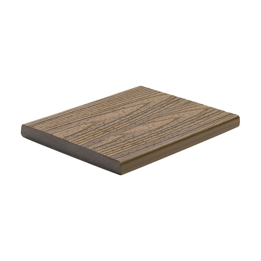 Trex Transcend Havana Gold Composite Deck Board (Actual: 0.75-in x 7.25-in x 12-ft)